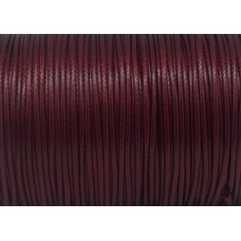 5m Cordon polyester enduit 1,5mm souple imitation cuir rouge bordeaux brillant