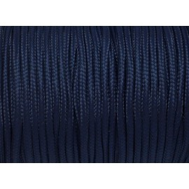 paracorde 3mm cordon nylon tressé corde nylon gainé bleu marine