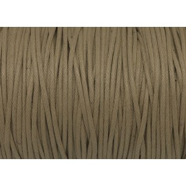 R-10m Cordon coton ciré 1,5mm de couleur beige sable