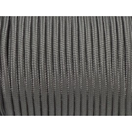 paracorde 3mm cordon nylon tressé, gainé gris