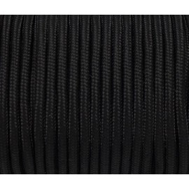 paracorde 3mm cordon nylon tressé, gainé noir