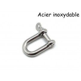 Fermoir manille en acier inoxydable rectangle