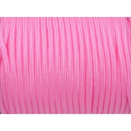 paracorde 3mm cordon nylon tressé rose barbe à papa