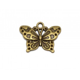 breloque papillon bronze