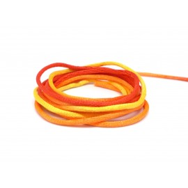 Cordon satin 2mm orange dégradé pas cher