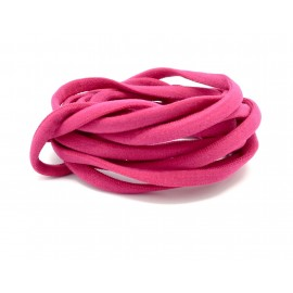 2m Cordon lycra élastique stretch 4mm style spaghetti rose fuchsia