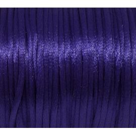 Cordon Queue de rat 2mm de couleur violet, bleu persan brillant