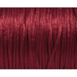 Cordon Queue de rat rouge framboise foncé brillant 2mm