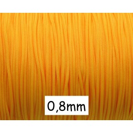 10m fil nylon tressé 0,8mm orange tangerine