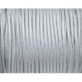Paracorde 3mm cordon nylon tressé corde nylon gainé gris clair