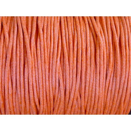fil coton ciré 2mm orange