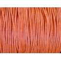 5m Cordon coton ciré 1,5mm orange