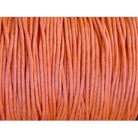 1m Cordon coton ciré 1,5mm de couleur orange