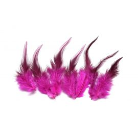 7 plumes teinte rose vif approximativement 8-16cm