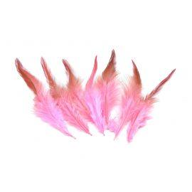 Plume rose clair, vieux rose approximativement 9-15cm