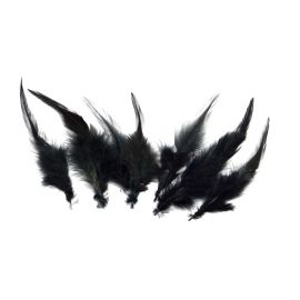 7 plumes teinte noire approximativement 8-12 cm