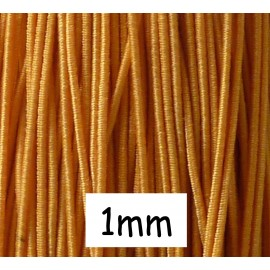 5m de fil élastique 1mm de couleur orange moutarde