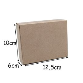 Boite cadeau rectangle uni couleur kraft marron à monter soi même 125x100x60mm