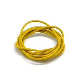 Cordon cuir rond 1,5mm jaune moutarde