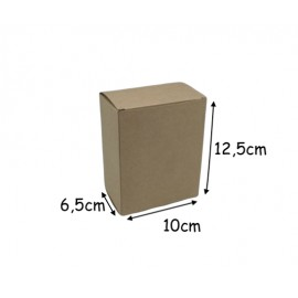 5 boites cadeau rectangle uni couleur kraft marron à monter soi même 125x100x60mm