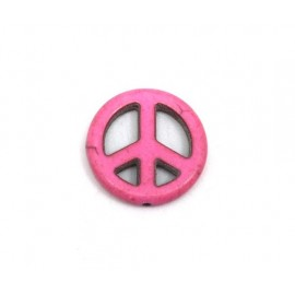 """Peace and Love rose 20mm style """"Howlite"""" pas cher"""