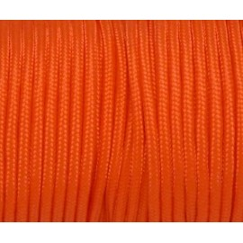 Paracorde 3mm orange vif cordon nylon tressé uni