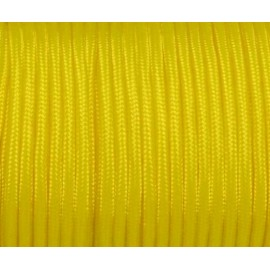 paracorde 3mm jaune citron cordon nylon tressé uni