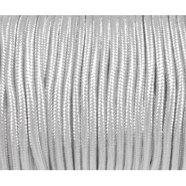 Cordon paracorde 3mm gris perle