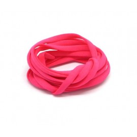 Cordon lycra 4mm rose fluo mat