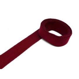 Ruban gros grain tradition 25mm rouge bordeaux en coton